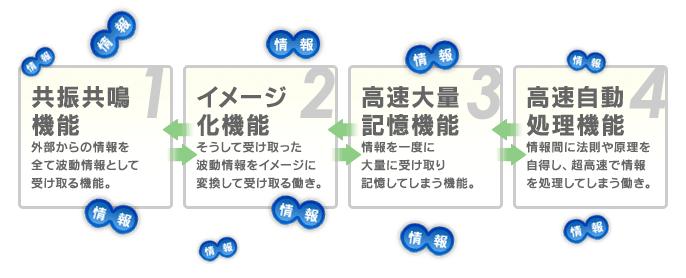 右脳の4つの機能